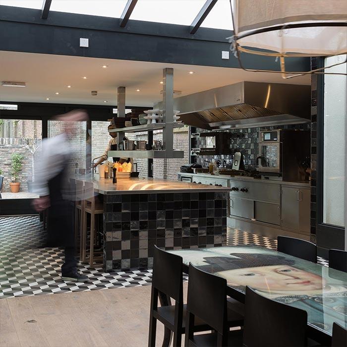 moderne open keuken restaurant juliette in nijmegen