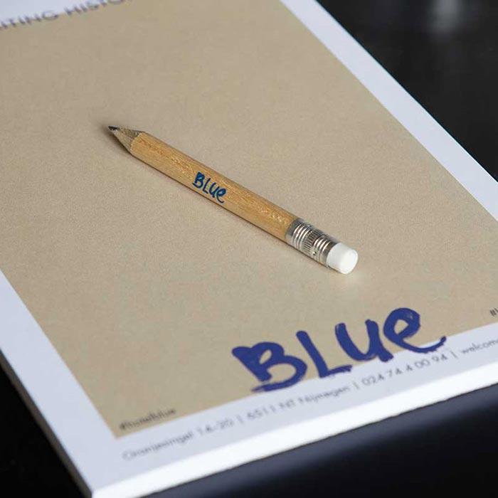 notitieblok met potlood blue vergaderruimte nijmegen